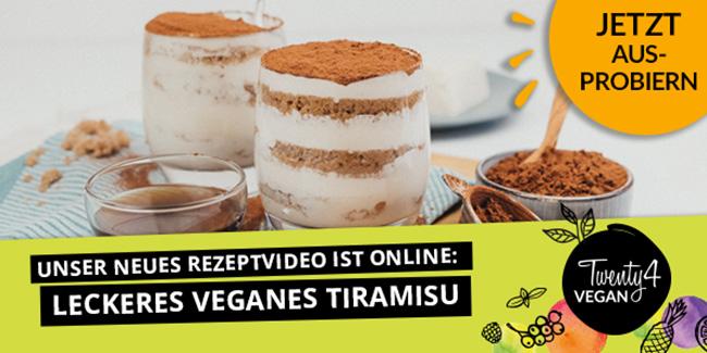 Tiramisu - ein Klassiker der italienischen Küche geht auch vegan!