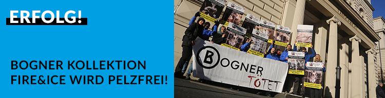 """Weiteres Etappenziel geschafft: Bogner-Kollektion """"Fire + Ice"""" wird pelzfrei!"""