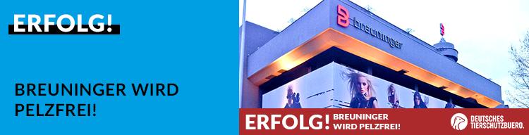 ERFOLG: Breuninger stellt Pelzverkauf ein!
