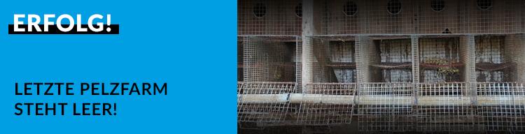 Erfolg: Keine Tiere mehr auf der letzten Pelzfarm in Deutschland