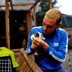 Stefan Klippstein rettet Kaninchen