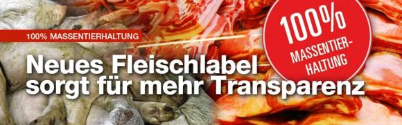 Neues Fleischlabel sorgt für mehr Transparenz - 100 % Massentierhaltung